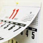 カレンダー 四十九日前のイメージ