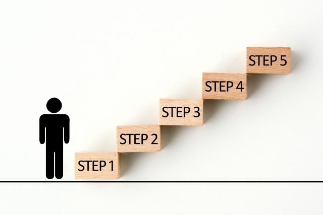 流れ ステップ